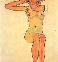 Egon Schiele, Seated female, 1910